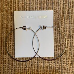 🌸Silver Michael Kors Hoop Earrings